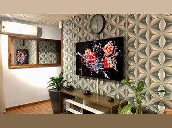 CompartoDepa MX - Cómodo apartamento amueblado, Excelente Ubicación - Zapopan, Guadalajara - MX$4,500 por mes