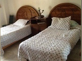 Hermoso cuarto con comida y servicio de lavandería