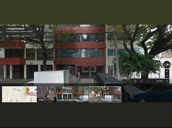 CompartoDepa MX - Renta de cuarto amueblado en excelente ubicación. - Benito Juárez, DF - MX$5,500 por mes