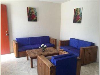 CompartoDepa MX - RECAMARA AMUEBLADA $1800 A 5 MIN DE C.U. - Otras, Puebla - MX$1,800 por mes