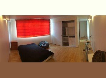 Amplia habitación en hermoso y espacioso departamento de...