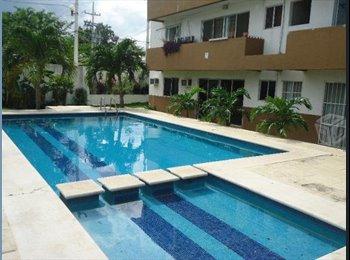 CompartoDepa MX - Cuarto cerca plaza las Américas con alberca, Cancún - MX$5,000 por mes