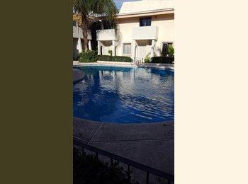 CompartoDepa MX - Departamento ejecutivo 2 recamaras con alberca comun, Hermosillo - MX$10,000 por mes