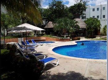 CompartoDepa MX - Cuarto en renta en céntrico condominio, Cancún - MX$3,850 por mes