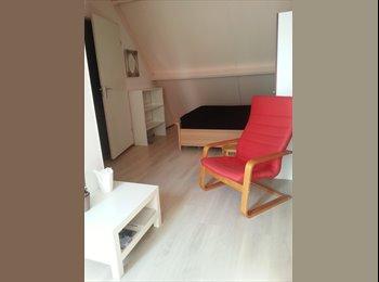 Mooie zonnige zolderkamer met openslaande deuren