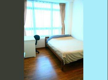 Modern & bright common room in a spacious condo