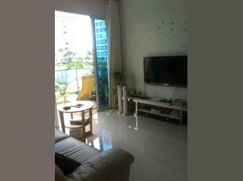 EasyRoommate SG - Furnished Common Bedroom at Waterview condo - Tampines, Singapore - $1,000 pcm
