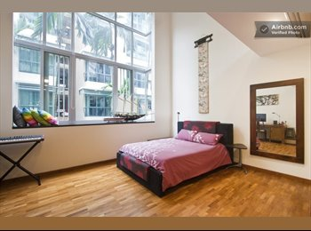 Beautiful high ceiling (7m) master bedroom