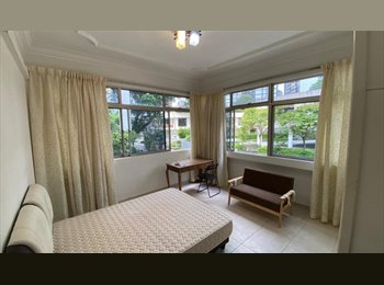 A spacious master bedroom downtown