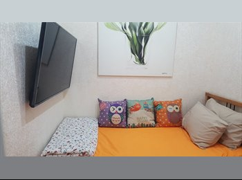 24hrs Aircon, 1Gbps free WiFi,  Fully Furnished Single Room...