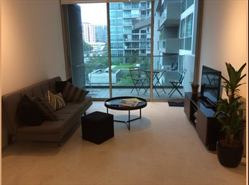 Master bedroom in a new luxury condo right above MRT...