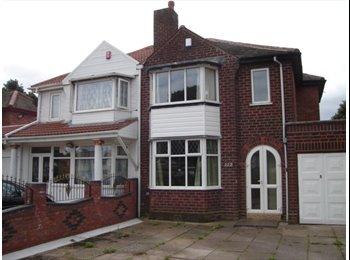EasyRoommate UK - Clean first floor rear room in Perry Barr. - Perry Barr, Birmingham - £294 pcm