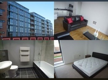 Rm avail in flat, deansgate locks, secure parking