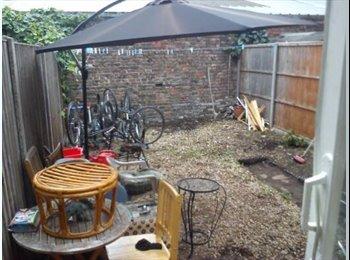 big studio .separate kitchen .and massive privari garden