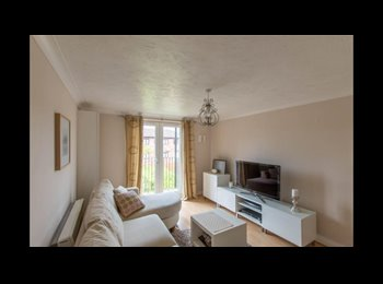 Furnished room in two-bed flat at town centr