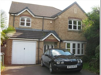 EasyRoommate UK - House Share  - Week Only -  Double Room In 4 Bed Modern Detached House - Binley, Coventry - £450 pcm