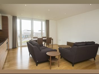 Sharing brand-new, high-spec, high floor London appartment...
