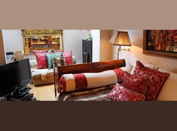 Bohemian Room with Double Bed in Luxury Victorian House in...