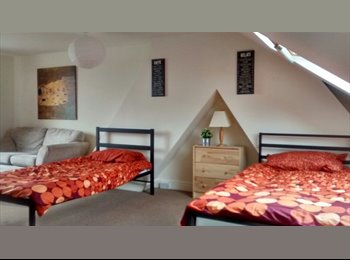 Large Two Single Beds in Bright Sunny Loft Bedroom...