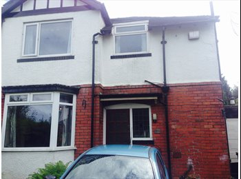 Room available in three bed roomed semi