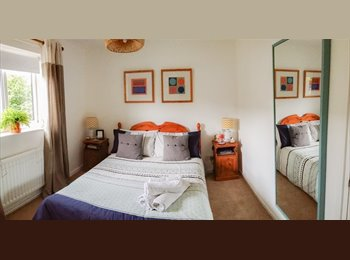 Comfy double room with good transport links