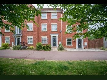 EasyRoommate UK - Two Double Ensuite Rooms in this attractive Modern Town House to rent for £550, Grange Farm - £550 pcm