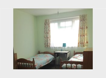 EasyRoommate UK - Bright & Big shared double room - £100 per week and NO extra cost. Near Shepherd's Bush/Hammersmith , Bedford Park - £400 pcm