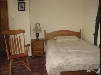 Double downstairs room with extra sofa bed, suitable for 1...