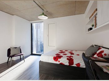 EasyRoommate UK - Bright, Spacious Studio in New Student Accommodation, London - £1,322 pcm