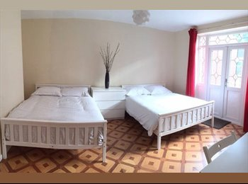 Twin Room - 2 Dbl Beds + TV/Garden - Limehouse DLR