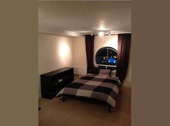 Room with large bed totally furnished + private bathroom
