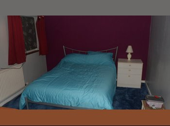 Large newly decorated double room in family home.