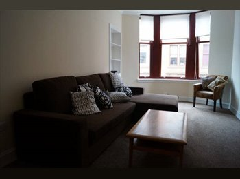 Ensuite double bedroom, in a warm West End flat