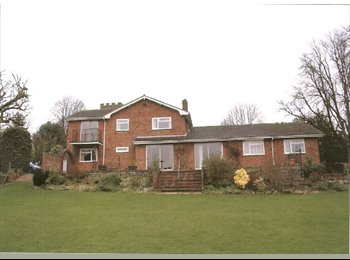 double rooms to rent in large country house with 1 acre...