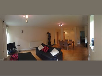 EasyRoommate UK - A double bedroom (all-inclusive) available in stunning 2-bed flat  with Private parking, Carrington - £495 pcm