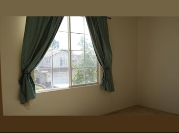 AVAILABLE NOW, Large and Quiet room for rent near