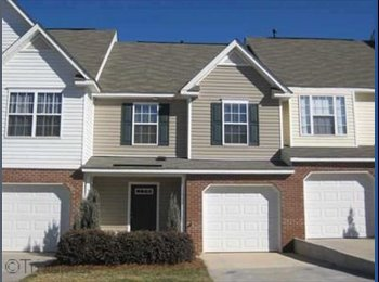 EasyRoommate US - 1300 Square Foot Townhome Need Roommate ASAP - Greensboro, Greensboro - $500 /mo