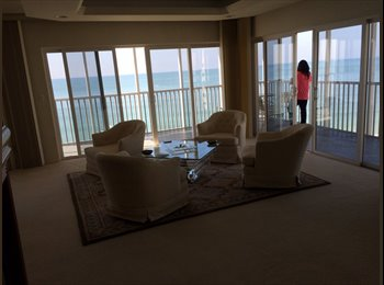 Direct ocean front penthouse condo lido beach 2 bdrm&2...