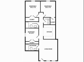 Three bedrooms for rent this summer-Available now!