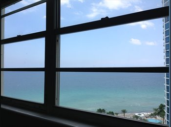 EasyRoommate US - Oceanview Room at Luxury Condo $1200 inclusive - Hollywood, Ft Lauderdale Area - $1,200 pcm