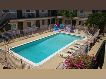 EasyRoommate US - OB great bedroom in large apt with pool - Ocean Beach, San Diego - $950 pcm
