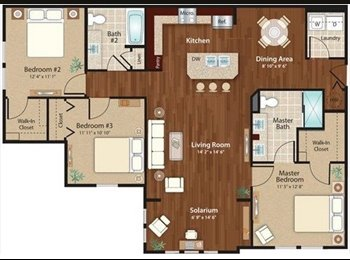 1 room $720 in Westchase utilities included