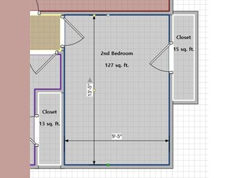 Mid-size Bedroom, Hall Bath, & Garage Spot