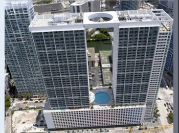 EasyRoommate US - awesome 2 bd/2bath in 500 Brickell - Brickell Avenue, Miami - $1,325 pcm