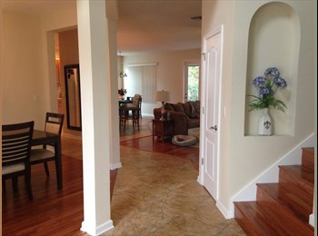 EasyRoommate US - Big bedroom walk-in closet in lovely two story home - Orlando - Orange County, Orlando Area - $700 pcm
