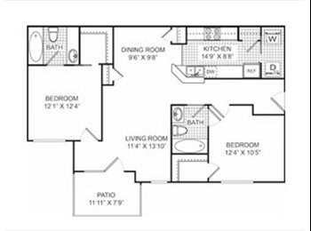 EasyRoommate US - 2 Bed 2 Bath Apartment Available! - Pensacola, Other-Florida - $500 pcm