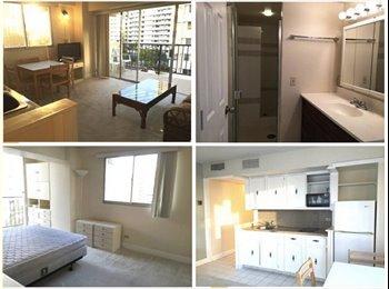 EasyRoommate US - Waikiki share room. 5min to beach 3min to bus stop! Security, Pool - Oahu, Oahu - $823 pcm