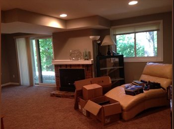 Basement level room available private bathroom