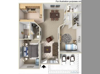 EasyRoommate US - $750 Glenoaks Apartment to be shared with me  - Downtown Anaheim, Anaheim - $750 /mo