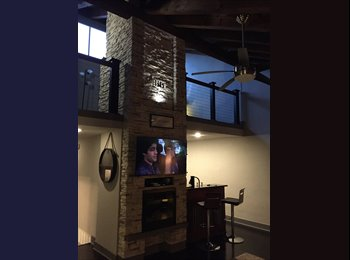 Top floor lofted condo - modern - clean - furnished - Plaza...